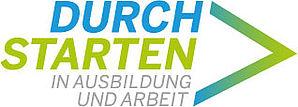 """Logo """"Durchstarten in Ausbildung und Arbeit"""""""